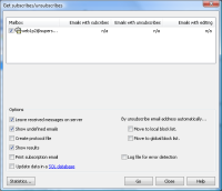 Newsletter Software SuperMailer - Retrieving newsletter subscribtions and unsubscribtions from inboxes or Outlook